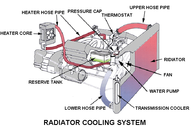 Radiator diagram and radiator working