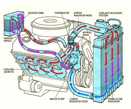 Water cooling system [Cooling system for ic engine]