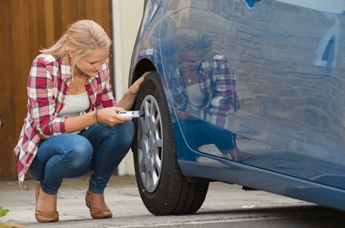 Tyre pressure checking- Car tyres