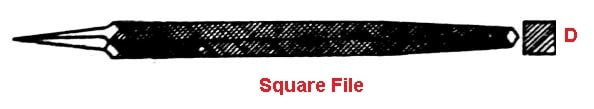 Types of file tool - Square file