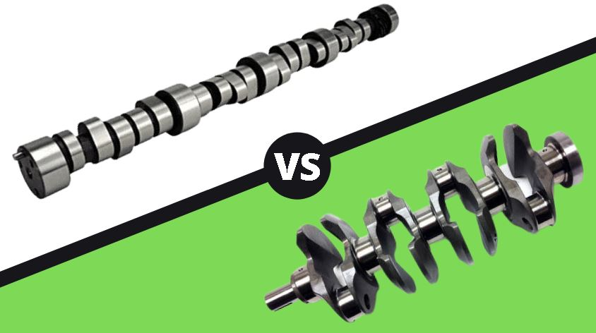 Difference between camshaft and crankshaft